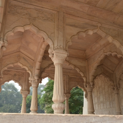 One of the Red Fort's opulent buildings.