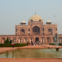 Humuyun's Tomb, the inspiration for the Taj Mahal.