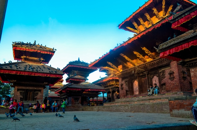 Kathmandu's historic Durbar Square, where Phil warned us, if you look Western, security guards will charge you a fee to enter this public square. Jess and I were chased out of the square by some of these guards but at least we managed to snap a few photos beforehand.