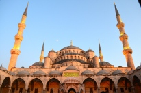 The famed Blue Mosque, Istanbul.