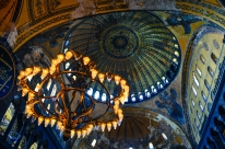 A former church that was transformed into a mosque when the Ottoman Empire came into power, the Hagia Sophia is an amalgam of both Christian and Muslim faith.