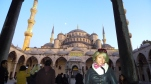 In front of the Blue Mosque.